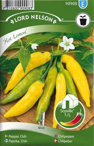 Chilipeppar- Hot Lemon - Lord Nelson fröer