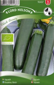Squash - Black Beauty - Organic - Lord Nelson fröer
