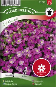 Aubrietia - Red Cascade - Lord Nelson fröer