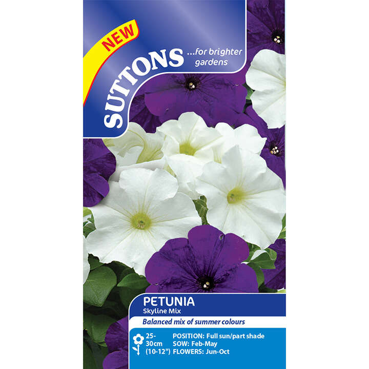 Petunia - Skyline Mix - Suttons Seeds