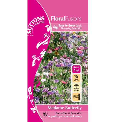 Blomsterblandning - FloralFusions - Madame Butterfly - Suttons Seeds