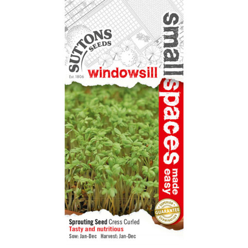 Krasse ´Cress Seeds - Curled`-Suttons Seeds
