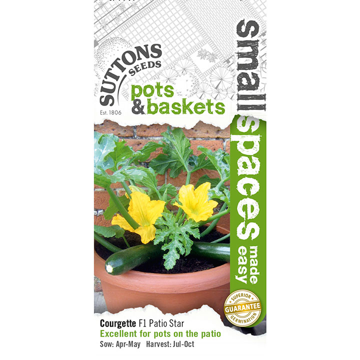 Squash ´Courgette Seeds - F1 Patio Star´-Suttons Seeds
