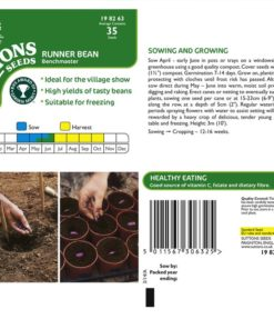 Böna Bean ´Runner Benchmaster`- Suttons Seeds