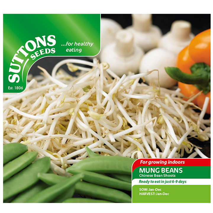 Mungböna / Mung Beans ´Chinese Ban Sprouts` - Suttons Seeds