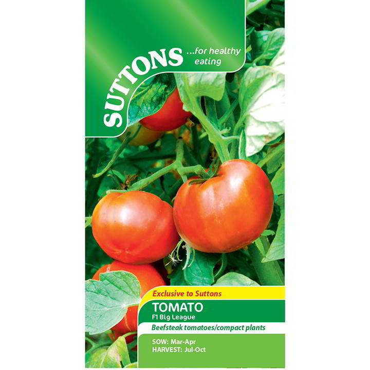 Tomatfrön - F1 Big League - Suttons Seeds-8379