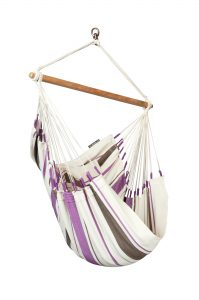 LA SIESTA® Caribeña Purple - Basic hängstol i bomull-0