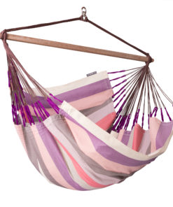 LA SIESTA® Domingo Plum - Vädertålig lounger hängstol-0