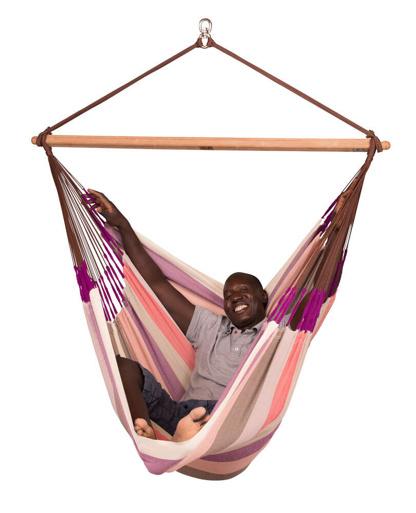 LA SIESTA® Domingo Plum - Vädertålig lounger hängstol-10265
