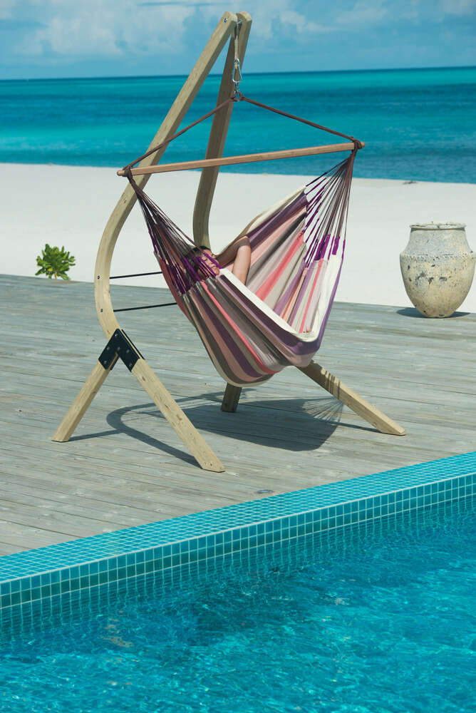 LA SIESTA® Domingo Plum - Vädertålig lounger hängstol-9978