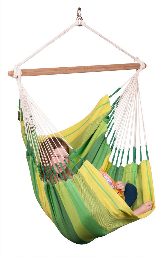 LA SIESTA® Orquídea Jungle - Basic hängstol i bomull-10256